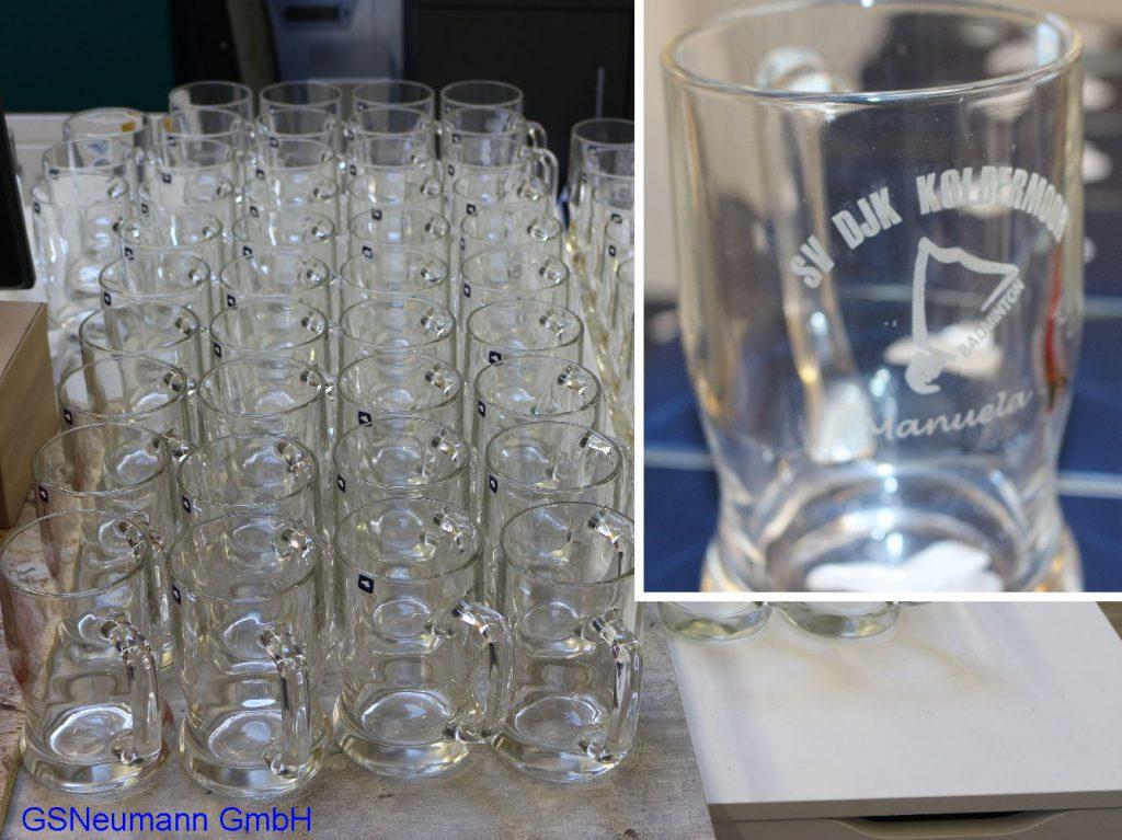 Laser Gravur Glas