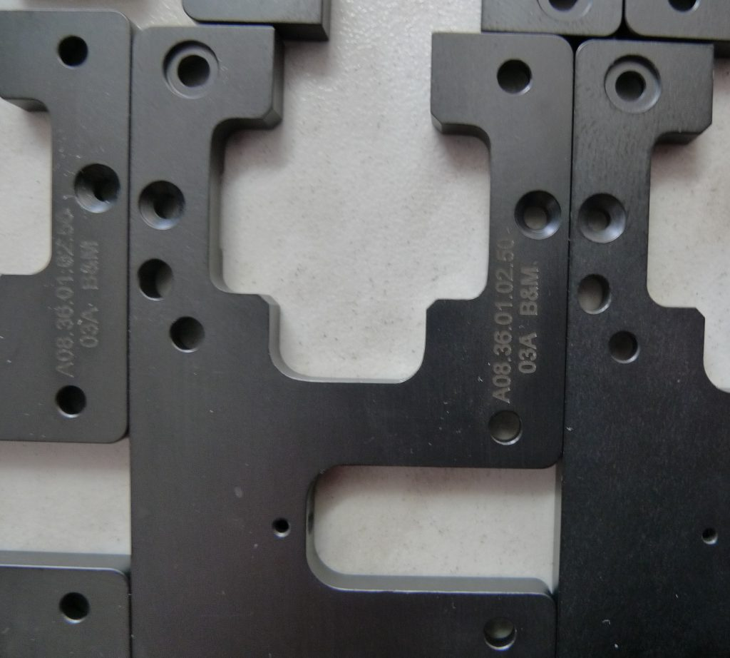 Stahl Oberflächengehärtet mit Gravur